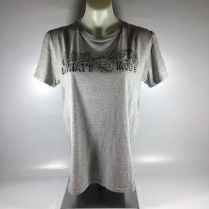 Gray mod pod pizza T-shirt size medium